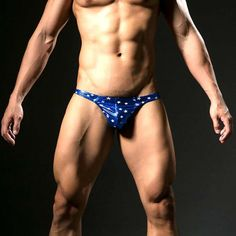 Fashion Brand Fake Leather Star Printed Sexy Mens Underwear Mini String Homme Jockstrap Gay Mens Thongs And G Strings