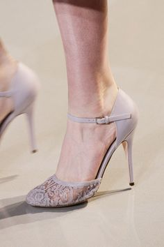 Elie Saab couture shoes lace details.