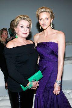 Catherine Deneuve and Princess Charlene of Monaco stunned in Ralph Lauren at last week's Beaux-Arts gala in Paris
