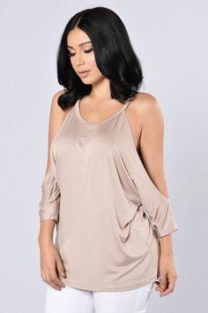 2dfb2d5b9250c6 fashion nova shirts · - Available in Taupe and Marsala - Cold Shoulder Top  - Loose Fit - Spaghetti Straps. fashionnova.com