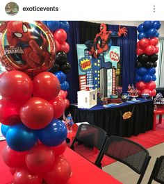 Spiderman Birthday Party Decoration