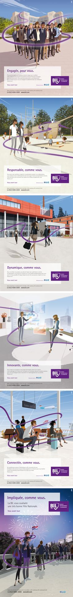 Annonceur : Banque Internationale à Luxembourg Campagne : campagne image 2015 Agence : Concept Factory