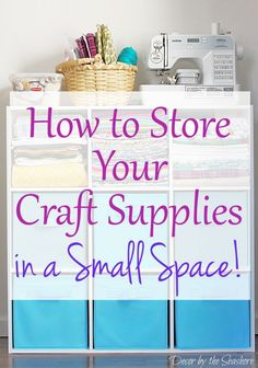 Learn how to organize and store your craft supplies in a small space. These helpful craft storage tips are perfect for small home and apartment living. Not everyone has an entire room, or part of a…