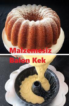 Malzemesiz Balon Kek Tarifi – New Cake Ideas Sweet Cookies, New Cake, Homemade Beauty Products, Yummy Cakes, Cake Decorating, Cheesecake, Food And Drink, Pudding, Sweets
