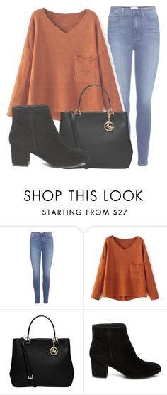 """Outfit #1514"" by lauraandrade98 on Polyvore featuring Paige Denim, MICHAEL Michael Kors and Steve Madden"