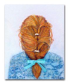 Art for Girls room  Baby Girl Nursery Hairstyles by handpainting, $15.00