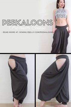 Make your own puffy pantaloons with beautiful drape side openings! Perfect for tribal fusion belly dance and festivals. Costume Flamenco, Belly Dance Costumes, Pretty Outfits, Cool Outfits, Fashion Outfits, Kawaii Clothes, Diy Clothes, Kleidung Design, Fantasy Dress