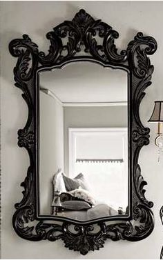 antique black mirror - Mirror With Black Frame