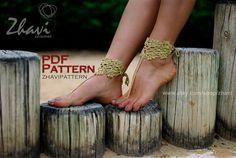 CROCHET Barefoot Sandals & Bracelets PATTERN 12 par ZhaviPattern