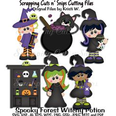 Spooky Forest Witchy Potion Shop Crew Cutting File Set