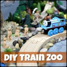 DIY Zoo Train Set for Wooden Trains - Play Trains!