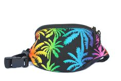 Hawaiian Rainbow Palm Tree  Cute Fanny Pack  Hip by Chiradesigns