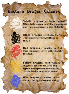 Eastern Dragons Colours