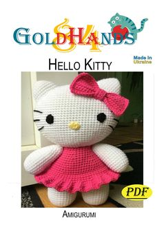 Hello Kitty,PDF,pattern,Amigurumi,gifts,handmade,file,thread,knitted toy,toy crochet,how to do it