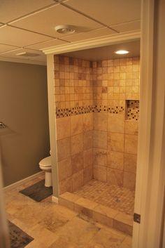 Basement Photos Bathroom Design, Pictures, Remodel, Decor and Ideas - page design ideas bathroom design design interior interior design Small Basement Bathroom, Bathroom Renos, Bathroom Ideas, Shower Ideas, Modern Bathroom Design, Bathroom Interior Design, Bathroom Designs, Basement Remodeling, Amazing Bathrooms