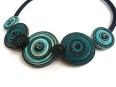 Blue Spiral NecklaceTurquoise NecklacesBlue by JewelryByCompliment