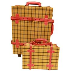 La Vida Vintage Cream Plaid Carry-On Luggage Set Best Carry On Luggage, Luggage Sets, Suitcase Set, Play Money, Fashion Prints, Traveling By Yourself, Plaid, Bags, Architects