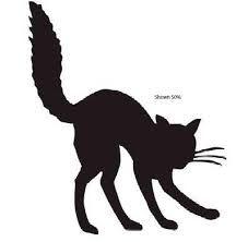 Resultado de imagen de siluetas de gatos halloween