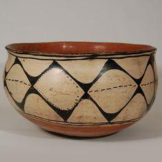 Kewa Pueblo Historic Large Dough Bowl