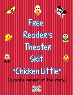 Free Readers' Theater PDFs ---free reading plays including Chicken Little, The 4 Little Pigs, The Three Billy Goats Gruff, Little Red Hen, The Whipping Boy Drama Activities, Drama Games, Fluency Activities, Reading Activities, Classroom Activities, Classroom Ideas, The Whipping Boy, Drama Class, Acting Class