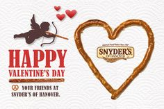Be our #Valentine? Happy Valentin's Day from Snyder's of Hanover! <3