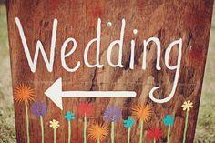 Rustic Wedding Sign