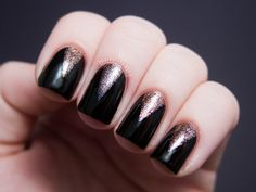Stiletto half-moon manicure from Chalkboard Nails.