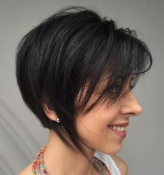 Black Layered Bob For Short Hair
