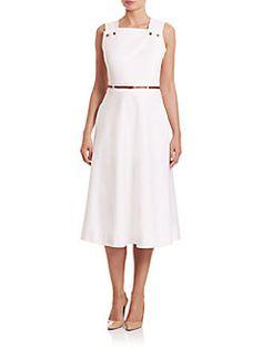 Escada - Pique Cotton A-Line Dress