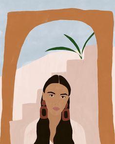 Girl illustration, I