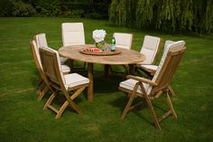 Our Bramblecrest 8 Seater Banbury teak garden furniture set offers a spacious seating option for alfresco dining, entertaining or relaxing with family & friends. Our Banbury classic teak has been carefully selected, precision cut and finely sanded provid Round Outdoor Table, Round Dining Set, Teak Garden Furniture, Outdoor Furniture Sets, Outdoor Decor, Garden Dining Set, Al Fresco Dining, Lazy Susan, Wooden Garden