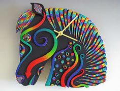 polymer clay - Google Search zebra clock made out of polymer clay