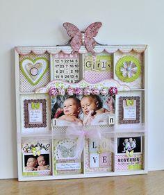 @Tracy Stewart Stewart Stewart M-Blessed Scrapper: Archiver's Contest: Twin Baby Girls Printer's Tray