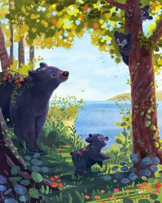 Bear Family by Ariel Silverstein #art