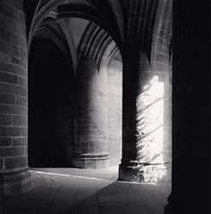 Michael Kenna Crypt of the Great Pillars, Mont St. Michel, France, 2000