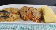 o varení, živote a tak...: Plnený bôčik, dusená kapusta a zemiaková knedľa Meat, Chicken, Food, Meal, Eten, Meals, Buffalo Chicken, Cubs