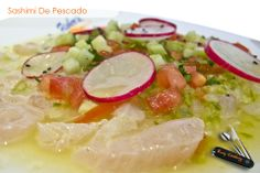 Ceviche, Sashimi, Mexican Food Recipes, Ethnic Recipes, Easy Cooking, Caprese Salad, Carne, Seafood, Vegetables