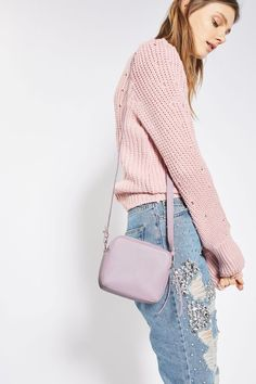 ORLO Leather Boxy Crossbody Bag - Topshop