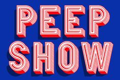 Peep Show Font by Vault49 by Thinkdust on @creativemarket