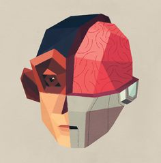 Human X Animal X Machine by Benjamin Flouw, via Behance