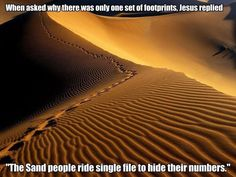 Footprints . . . LOL