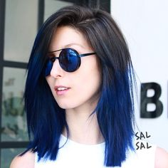 Mex*Ny* sf*la* benjaminsalon arts district* changing the wor Brunette Ombre, Brunette Hair, Ombré Hair, New Hair, Blue Hair, Dark Hair, Blonde Dye, Dyed Hair Pastel, Dyed Hair