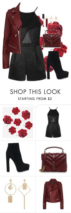 """""""so"""" by edkth on Polyvore featuring Topshop, Casadei, Yves Saint Laurent, Maje and Chanel"""