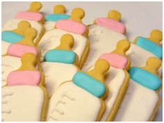 Baby bottle cookies perfect for a baby shower #Cookies #BabyShower