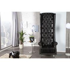 Moderne chesterfield Royal Chair zwart - 21400