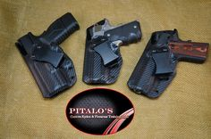 SOB (small of Back) IWB Kydex holsters, Lower back holsters