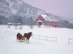 10 Beautiful Snowy Red Barn Photos to Celebrate the Season  - CountryLiving.com