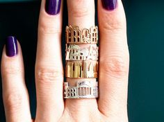 Cityscape Rings, Necklaces and Paris Midi Ring by Ola Shekhtman on Etsy More posts like this New: So Super Awesome on WordPress New York Cityscape, Skyline, Statement Rings, Fashion Rings, 3d Fashion, Vintage Fashion, Etsy Store, Class Ring, Stockholm