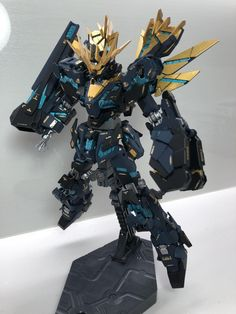 RG バンシィ・ノルン フルパッケージ 覚醒ver アピールショット1 Action Figures, Unicorn, Robots, Inspiration, Design, Ideas, Blue Prints, Biblical Inspiration, Robot