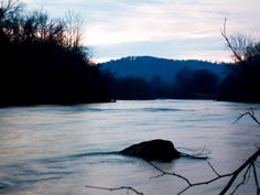 the river right before dark
